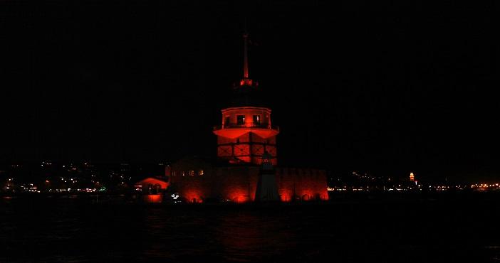 kız kulesi turuncu